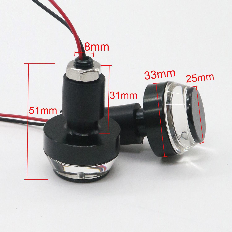 Phụ tùng xe máy : Nút điều chỉnh tay lái led báo rẽ .