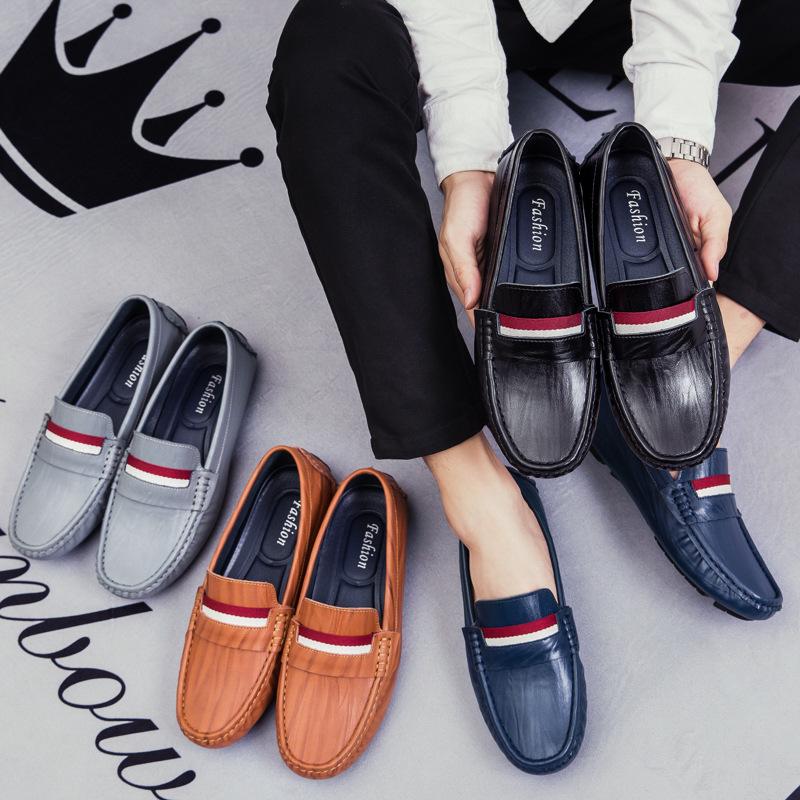 Giày mọi đế thấp Mùa thu đông xu hướng thời trang mới cộng với giày nhung đậu nam phiên bản Hàn Quốc