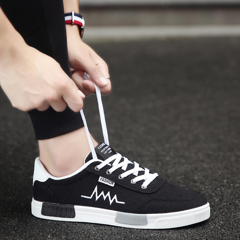 giày vải 2018 phiên bản Hàn Quốc mới của xu hướng giày nam hoang dã giày vải thông thường giày nam m