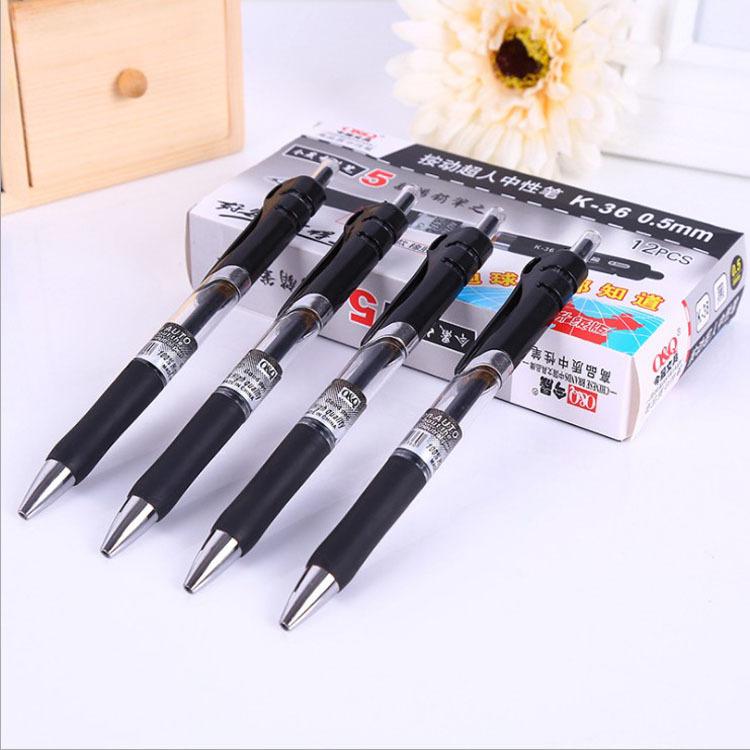 JINSHENG Đồ dùng văn phòng Văn phòng phẩm cung cấp công suất lớn carbon 0,5mm đạn trung tính bút bút