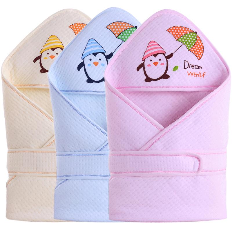 FPBB Khăn quấn Ôm em bé được bao phủ bởi khăn lau sơ sinh bán buôn em bé ôm chăn bông bông ấm áp mùa