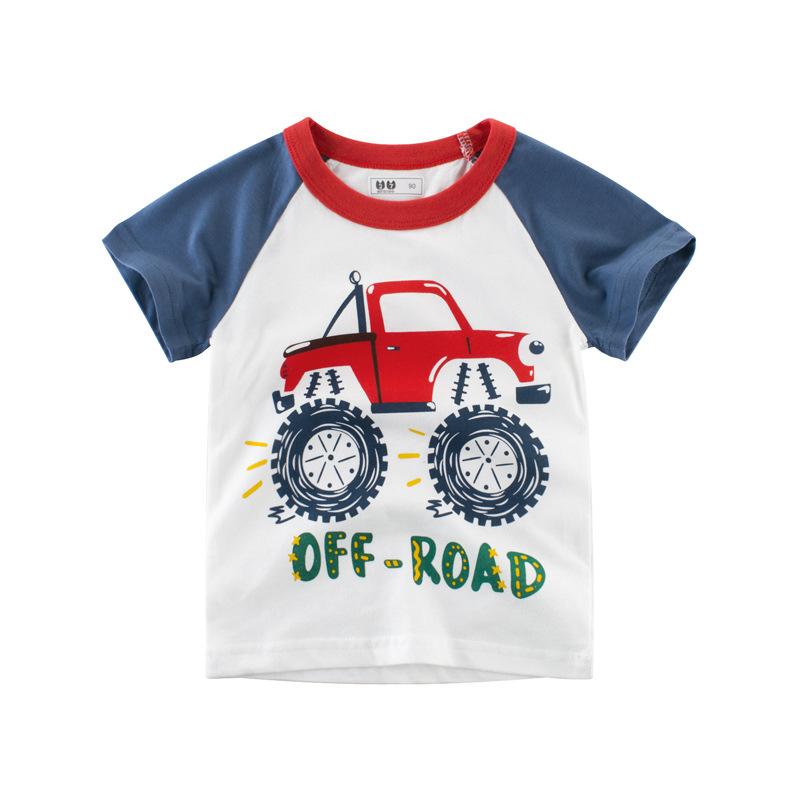 27KIDS Thị trường trang phục trẻ em 2019 quần áo trẻ em mùa hè cho bé trai áo thun cotton ngắn tay t