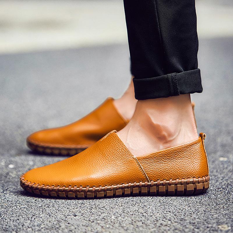 Giày mọi Gommino Giày xuyên biên giới cỡ lớn 49 yard Giày thoáng khí cho nam Giày da nam một lớp da