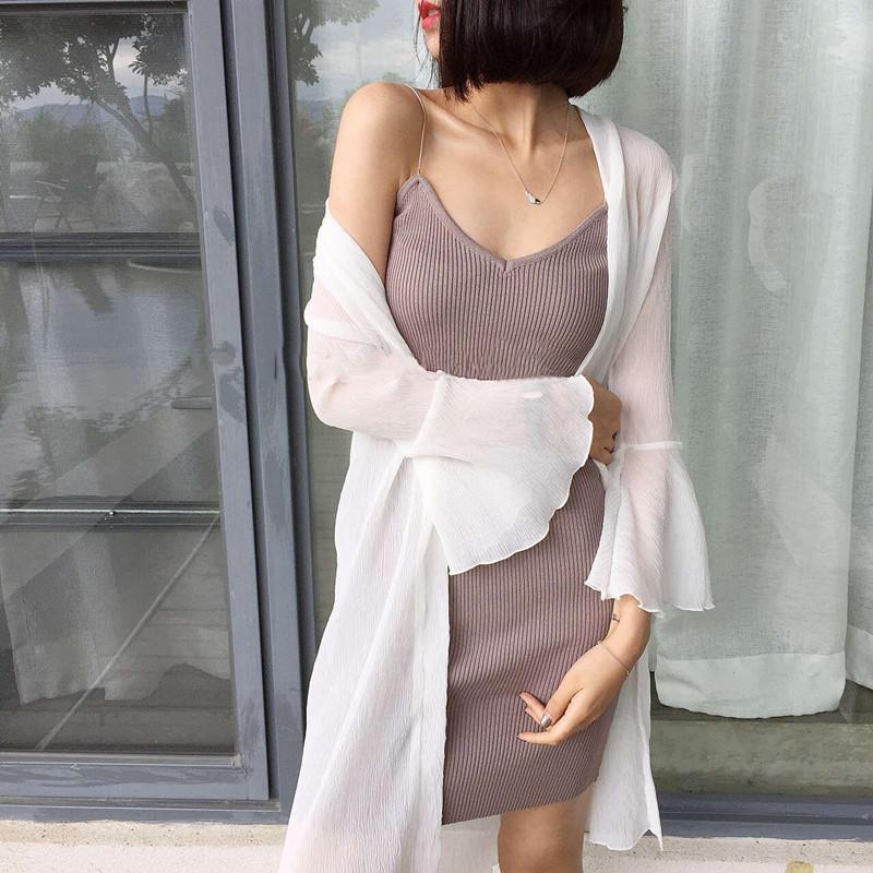 JINHAOLUN Thời trang nữ Áo chống nắng cho phụ nữ áo cardigan dài mùa hè 2018 mới tay áo chống nắng á