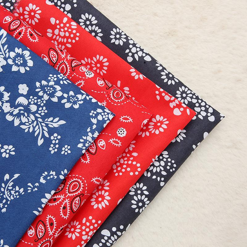 LANYU Vải dệt may Hoa cổ mới in vải polyester Đa năng sofa hành lý khăn trải bàn Vải trơn Bán buôn