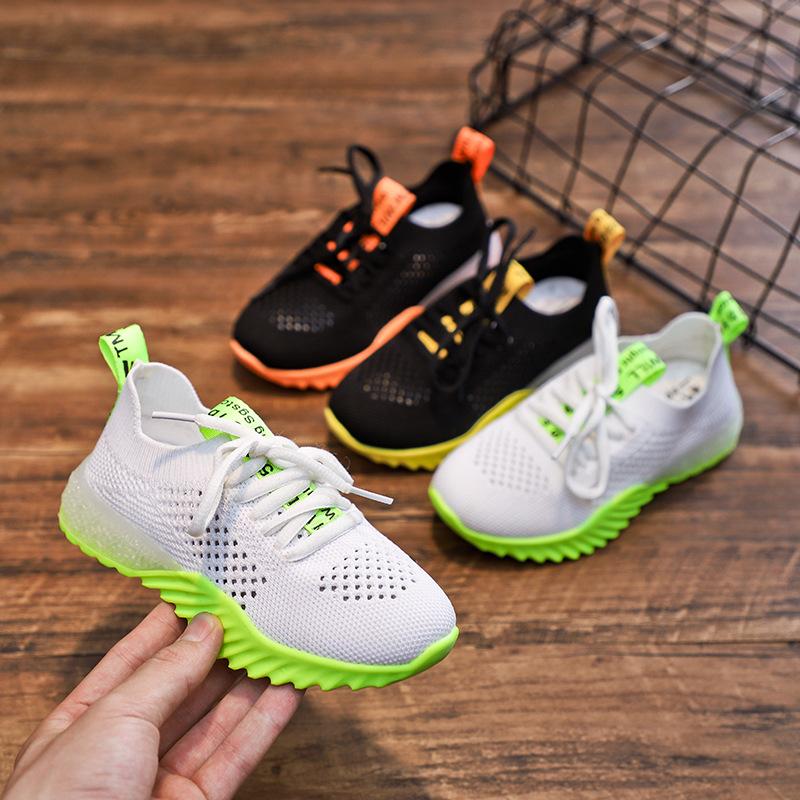 Giày lưới Giày bé trai mùa thu 2019 lưới mới openwork thoáng khí mùa xuân và mùa hè Giày thể thao ch