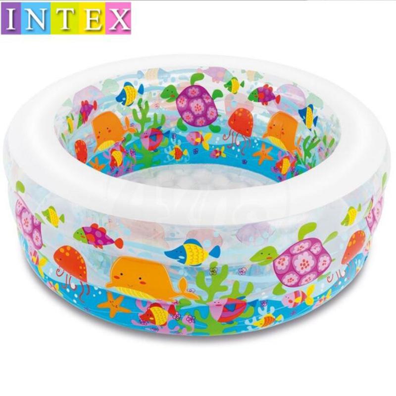 INTEX bể bơi trẻ sơ sinh 58480 trẻ sơ sinh chơi bể bơi gia đình em bé hồ bơi bóng đại dương trẻ em b