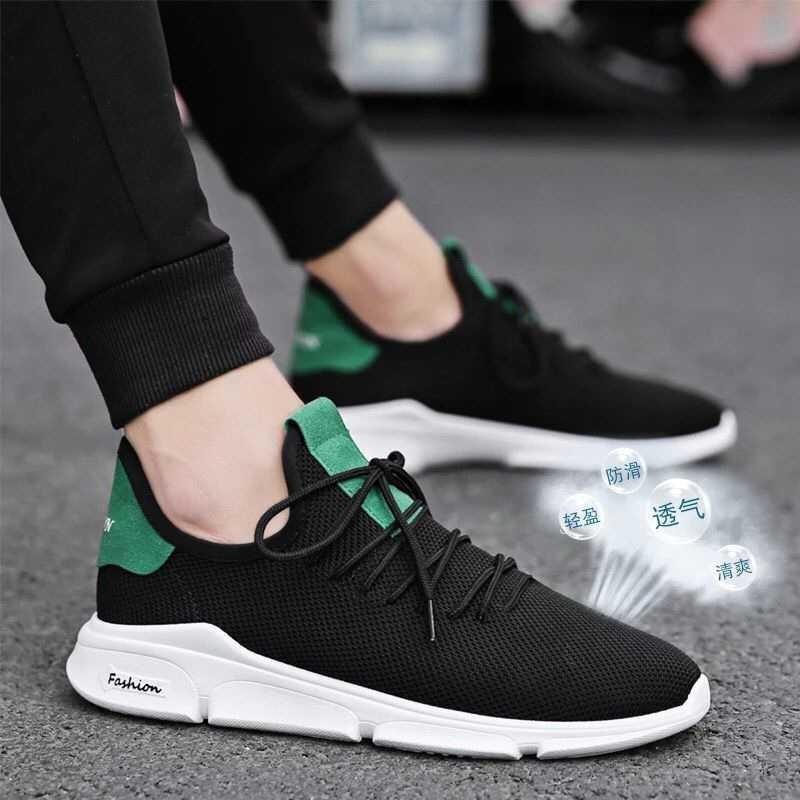 JYYG Giày lười / giày mọi đế cao Các nhà sản xuất mới xung lực công nghệ dây chuyền giày lưới giày t