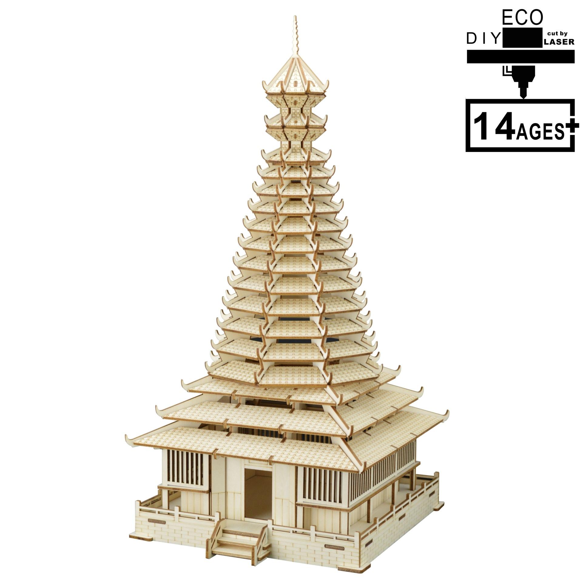 NEW-LAND Tranh xếp hình 3D Nhà máy cung cấp đặc biệt xuyên biên giới trực tiếp 3D bằng gỗ DIY ghép h