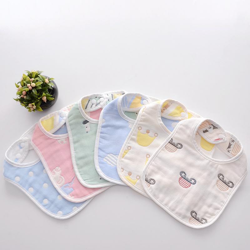 Khăn yếm Sơ sinh túi gạo hình chữ U bé gạc nước bọt khăn bông bé ăn bib mùa thu và mùa đông