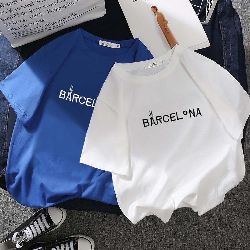 SHUIGUOER Thời trang nữ Áo phông mới 2019 mùa hè ngắn tay nữ phiên bản Hàn Quốc của áo cổ tròn họa t