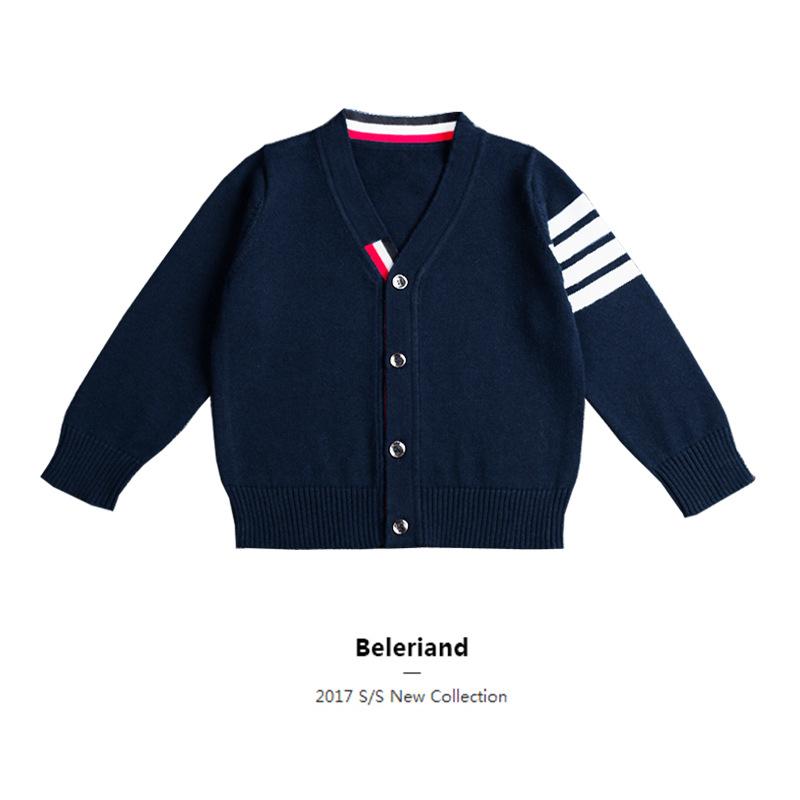 Áo dệt kim trẻ em 2019 ngoại thương trẻ em mới áo len trẻ em cotton Hàn Quốc áo len đan len