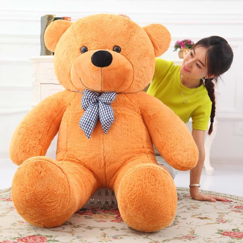 WEIAI Búp bê vải Nhà máy bán buôn tùy chỉnh gấu bông lớn đồ chơi sang trọng nơ lớn ôm gấu vải búp bê