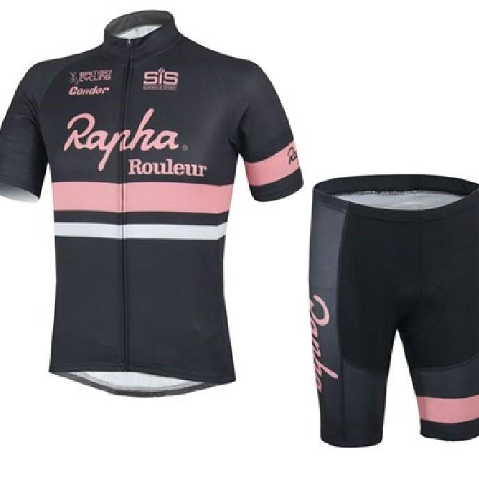 Trang phục xe đạp Đội phiên bản rapha mùa hè phù hợp với nam tay áo ngắn dây đeo quần short tự đi xe