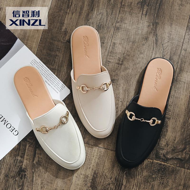 XINZHILI giày bệt nữ Giày lười mùa hè 2018 mới không có gót một đôi dép đi trong nhà