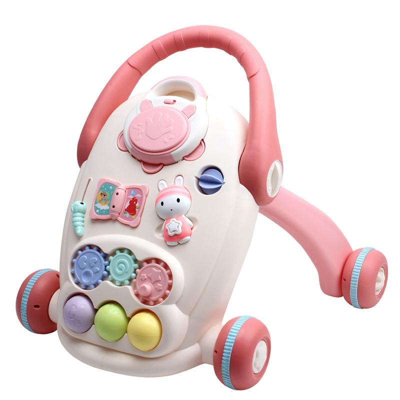 HUAILE Xe tập đi Xe đẩy cho bé với thùng chứa nước có nhạc đa năng Đồ chơi cho bé 0-1 Bán buôn đồ ch