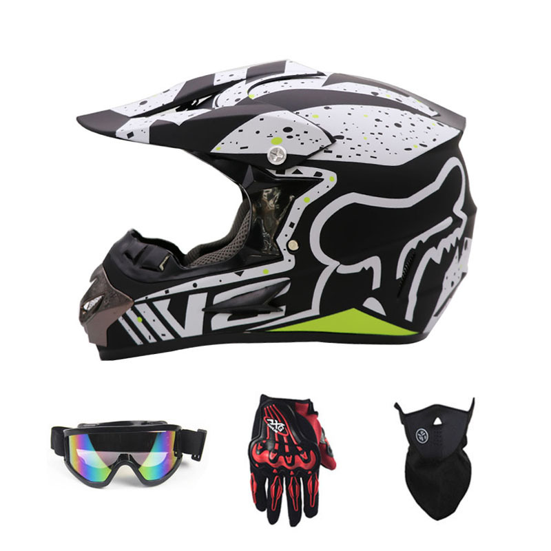 WLT Mũ bảo hiểm xe đạp FOX xuống dốc xe máy off-road AM xe đạp leo núi đầy đủ mũ bảo hiểm cưỡi mũ bả