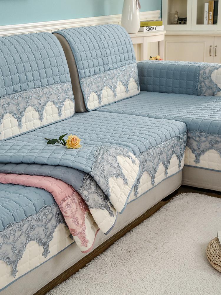YOURONG Đệm massage Bốn mùa sofa đệm phổ vải trượt đơn giản hiện đại sofa bao gồm tất cả bao gồm phổ