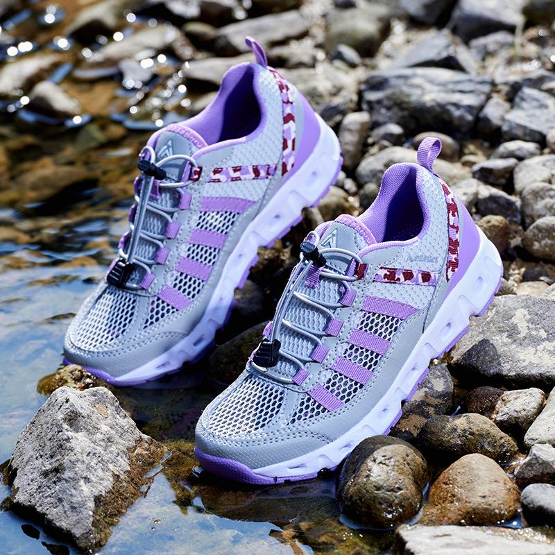 KORAMAN Giày đi bộ đôi mùa hè ngoài trời giày sông đi giày nam giày thoáng khí thể thao leo núi chốn