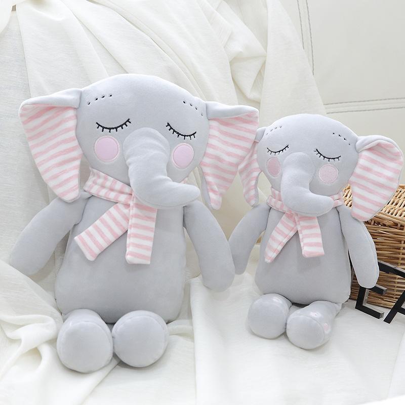 LONGTAI Búp bê vải 2019 mới ngủ mềm cho bé búp bê voi thoải mái như búp bê búp bê trẻ em quà tặng si