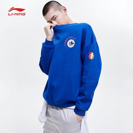 Sweater (Áo nỉ chui đầu)  Li Ning retro thể thao Mickey loạt áo len nam 2019 áo sơ mi cổ tròn mới mù