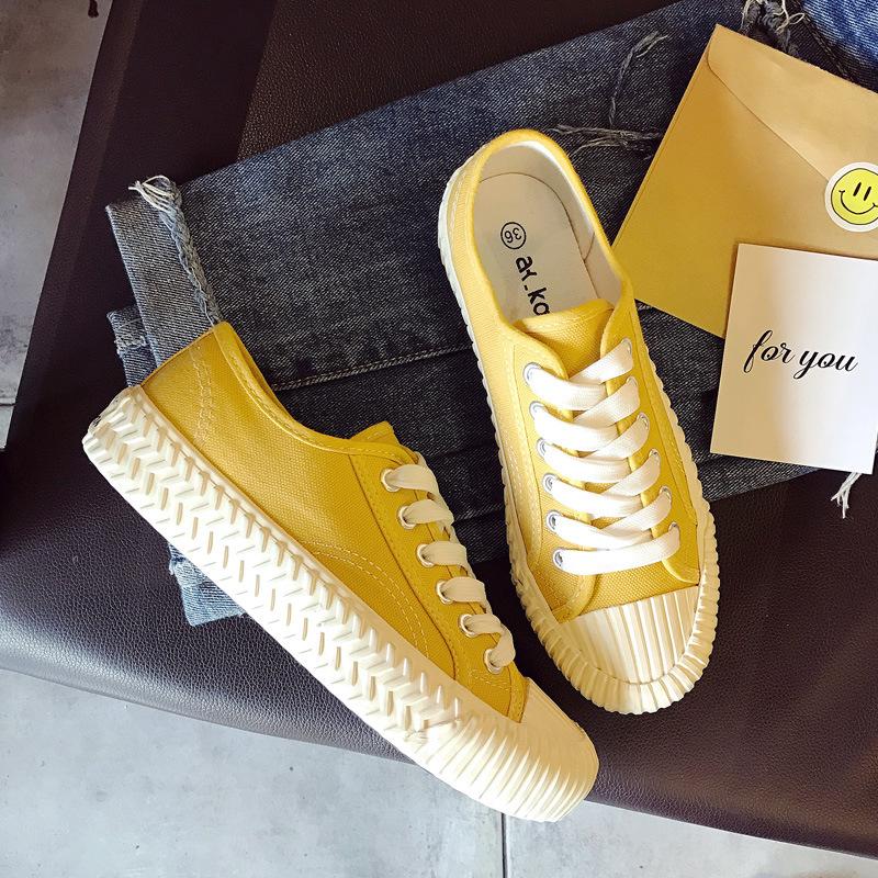 GDMM giày bệt nữ Giày bánh quy mới Giày vải bố nữ sinh viên Hàn Quốc phiên bản Hàn Quốc của giày đế