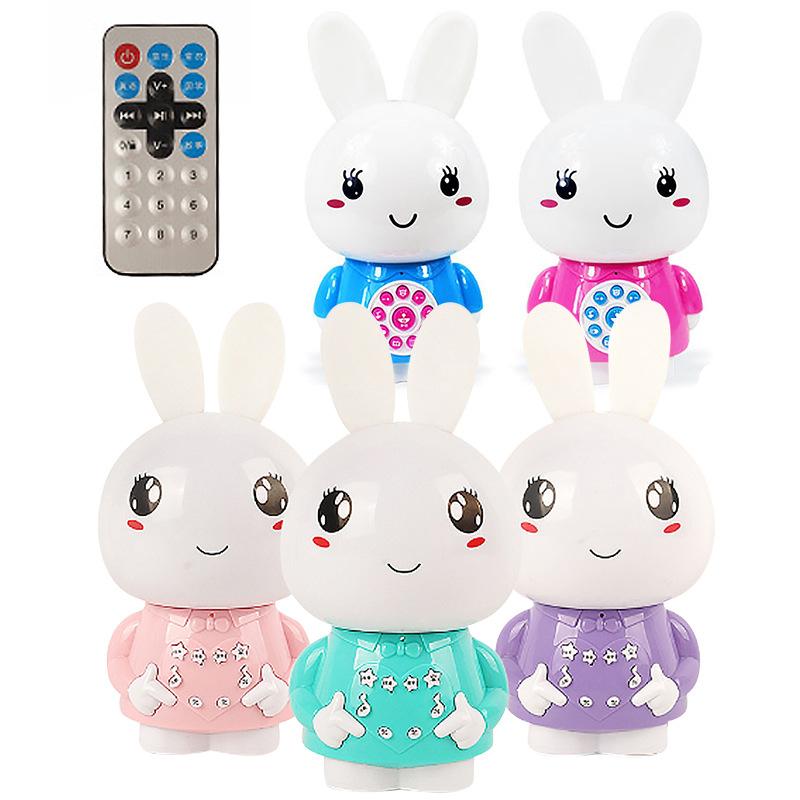 LELEWU Máy học tập Máy câu chuyện thỏ nhỏ giáo dục sớm cho trẻ em đồ chơi trẻ em âm nhạc máy học thỏ