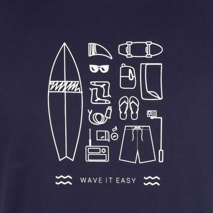 Áo thun Decathlon flagship lưu trữ áo thun nam tay ngắn thể thao chống nắng nhanh khô áo bơi ngoài t