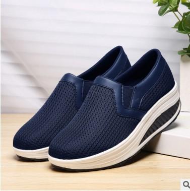 Giày Loafer / giày lười Chúc đôi giày mùa xuân và mùa hè mới của phụ nữ tăng giày thoáng khí 42 muff