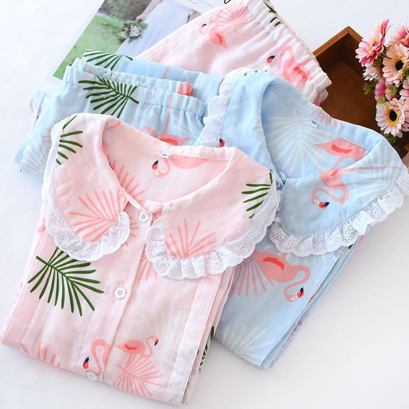 Trang phục trong tháng (sau sinh) Mùa xuân và mùa thu bông gạc tháng quần áo cho con bú quần áo dễ t