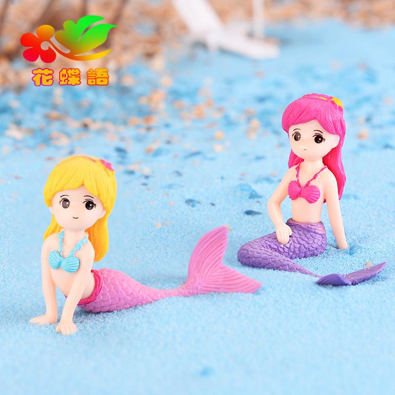 HUADIEYU Cảnh quan Mini Nàng tiên cá DIY cảnh quan hồ cá cảnh trang trí cảnh quan sáng tạo vẻ đẹp bá