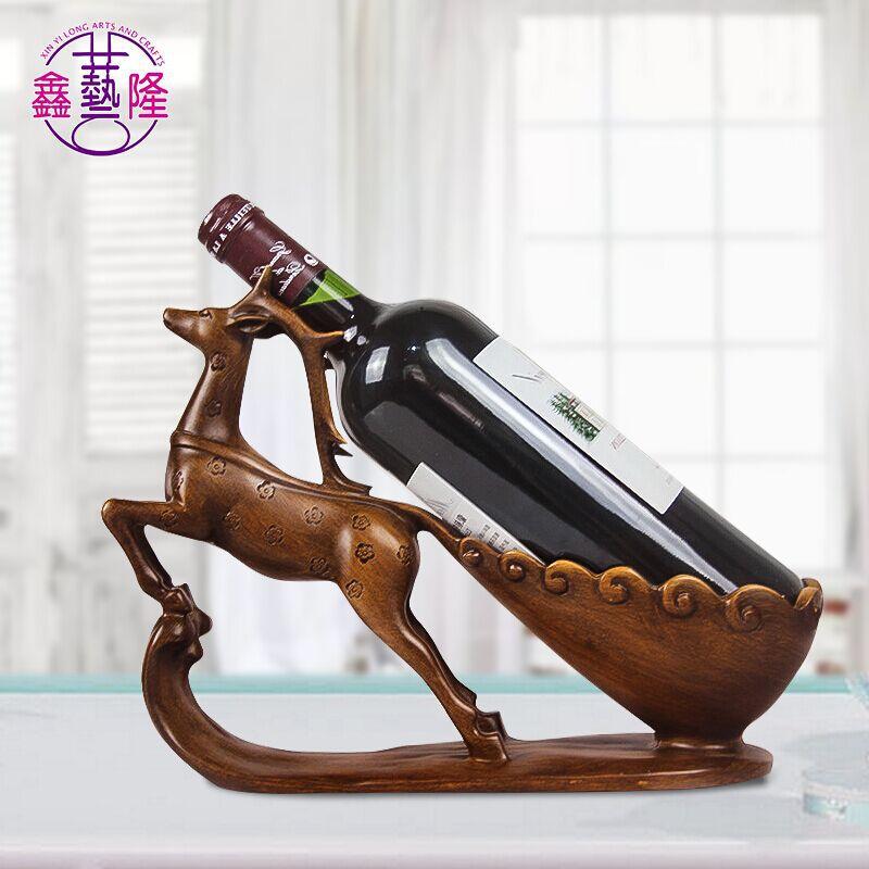 XINYILONG Đồ trang trí bằng cao su Sáng tạo giá rượu trang trí Nhựa mận hươu thủ công giá rượu Trang