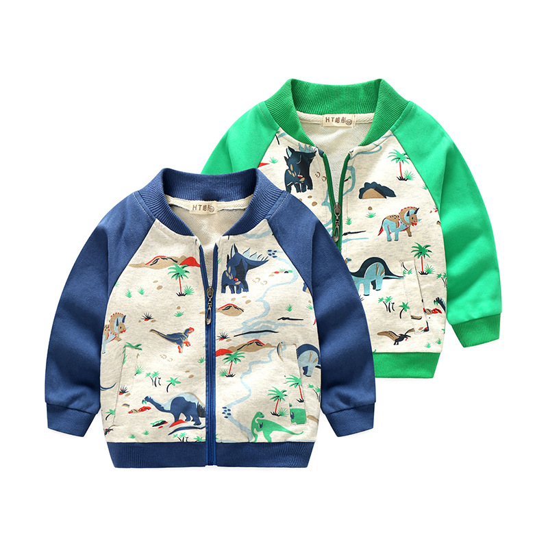 HAOTONG Áo khoác trẻ em Một chiếc áo khoác cotton cho bé trai 2018 mùa thu Châu Âu và Mỹ Quần áo trẻ