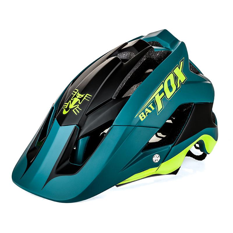 BATFOX Mũ bảo hiểm xe đạp dơi xe đạp mũ bảo hiểm xe đạp leo núi một mảnh kem chống nắng động đất cưỡ