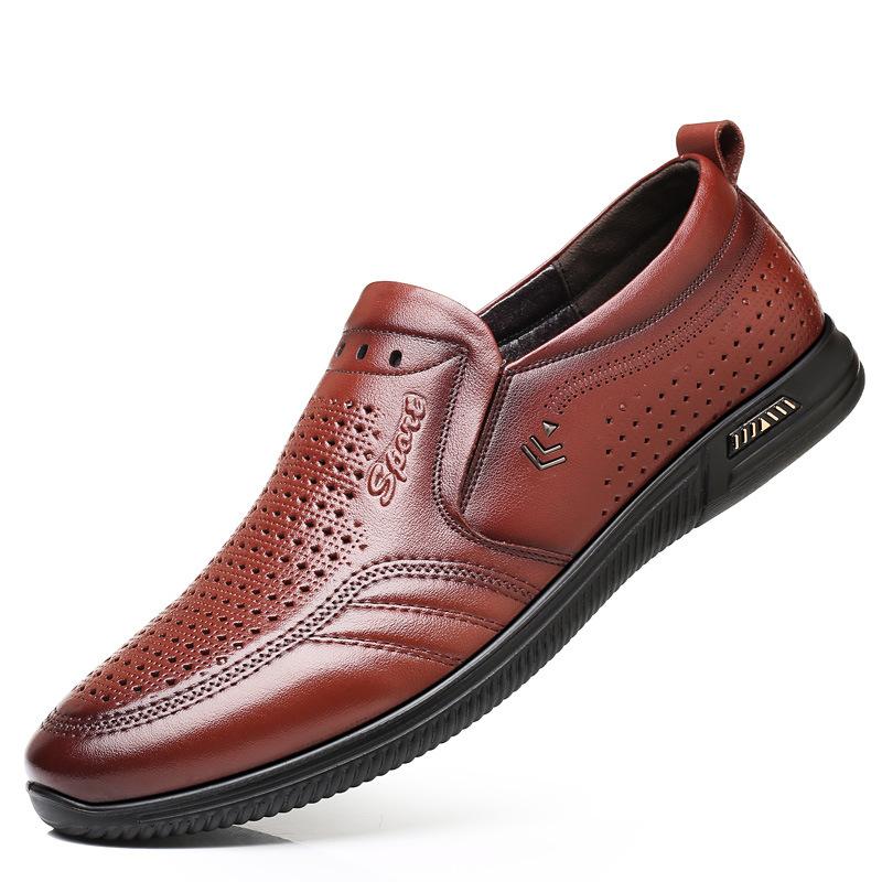 QIANGZU Giày mọi đế thấp 2019 giày nam mới openwork giày thời trang giản dị đặt chân mềm đế mềm, tho