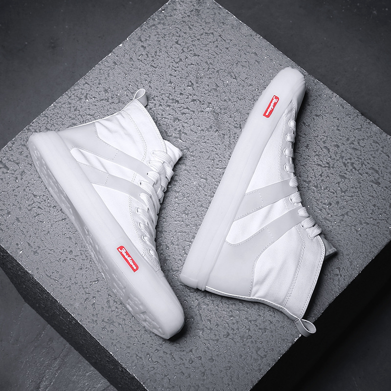 Giày vải cao cấp Phiên bản Hàn Quốc của xu hướng giày không thấm nước thời trang mới Giày nhỏ màu tr