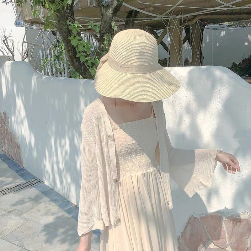 XIKESHE Áo khoác Cardigan Áo len dệt kim gió lửng 2019 phiên bản Hàn Quốc mới của áo ngoài mỏng mỏng