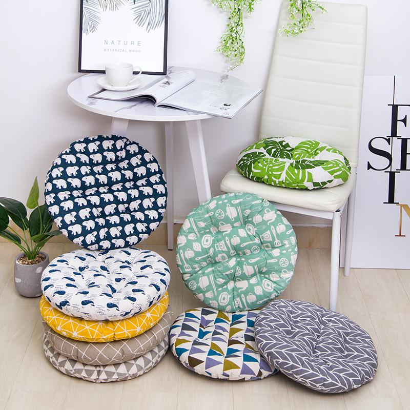 Đệm ngồi Dày đệm mùa hè ghế đệm bông và vải lanh văn phòng bốn mùa học sinh phân mông đệm thoáng khí