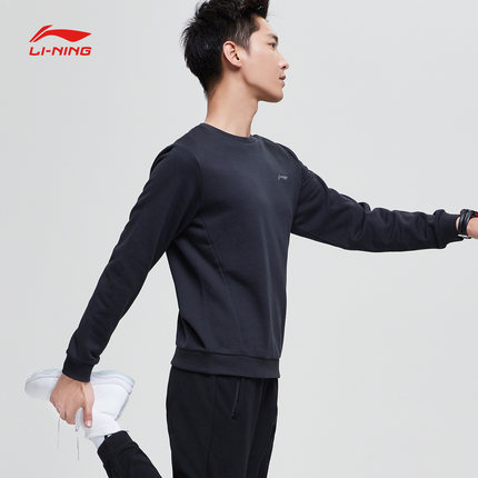 Sweater (Áo nỉ chui đầu)  Li Ning áo len nam mới đào tạo loạt áo thun cổ tròn giản dị mùa hè thể tha