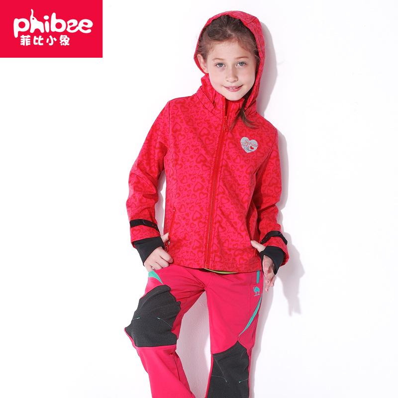 Phibeekids Lót nỉ Soflshell Phibee thương mại điện tử xuyên biên giới Phoebe voi lông cừu tính phí q