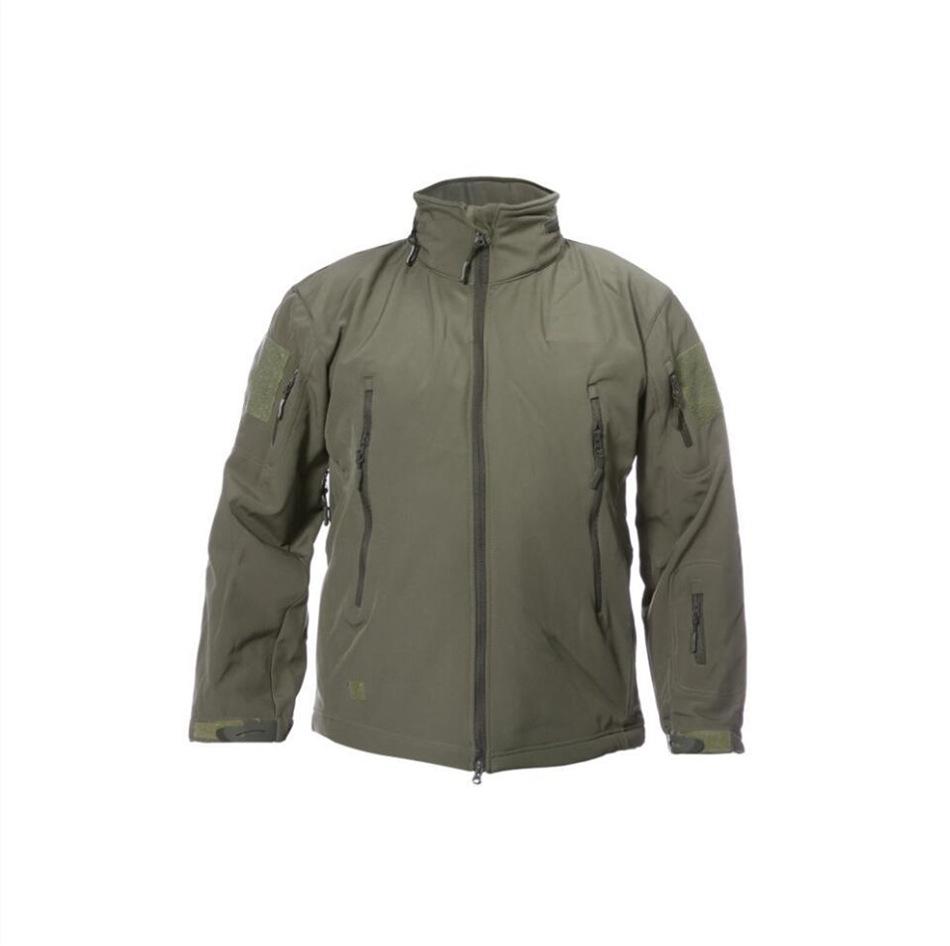 Lót nỉ Soflshell Nhà máy trực tiếp ngoài trời da cá mập lông cừu áo khoác mềm chiến thuật áo khoác n