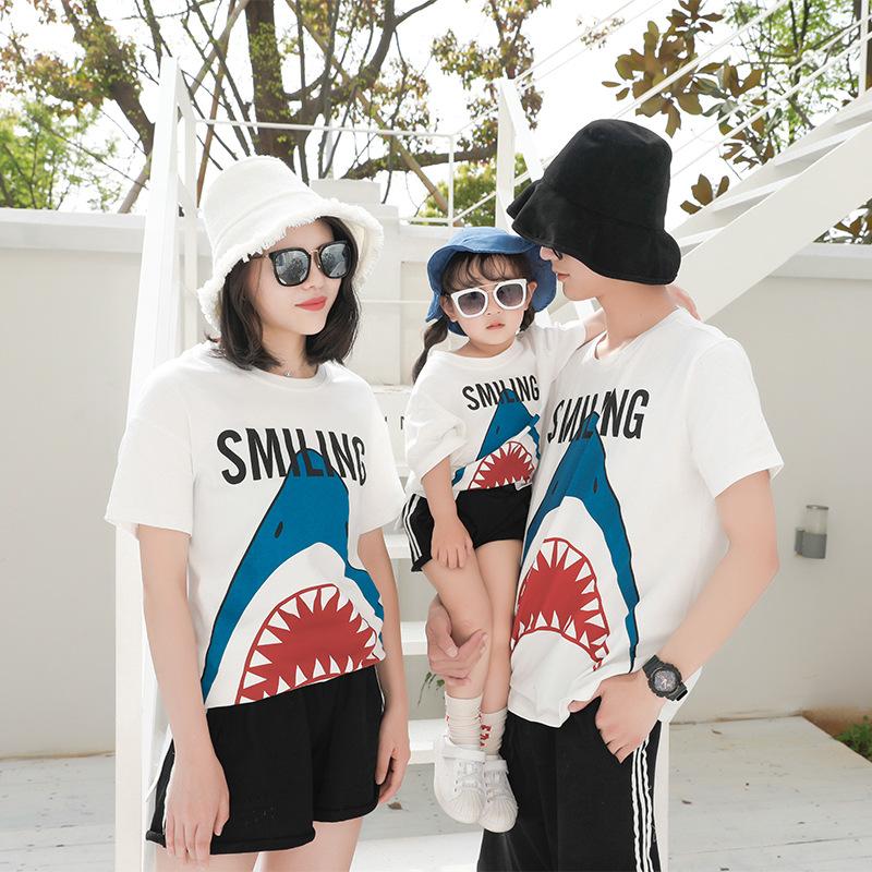 TUOMATUO Áo thun gia đình Quần áo trẻ em Toma Tuo 2019 mùa hè mới cho trẻ em Phiên bản Hàn Quốc của