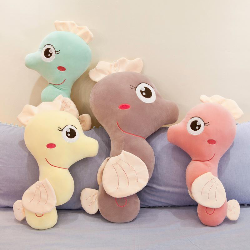 Búp bê vải Hippocampus gối đồ chơi sang trọng rung cùng đoạn 2019 đồ chơi mới gối ngủ lớn với búp bê