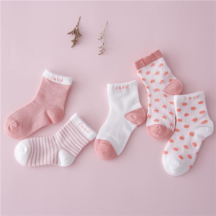 Vớ trẻ em Sản phẩm mới hot polka dot trẻ em vớ mỏng thoải mái thoáng khí vớ cotton thời trang vớ trẻ
