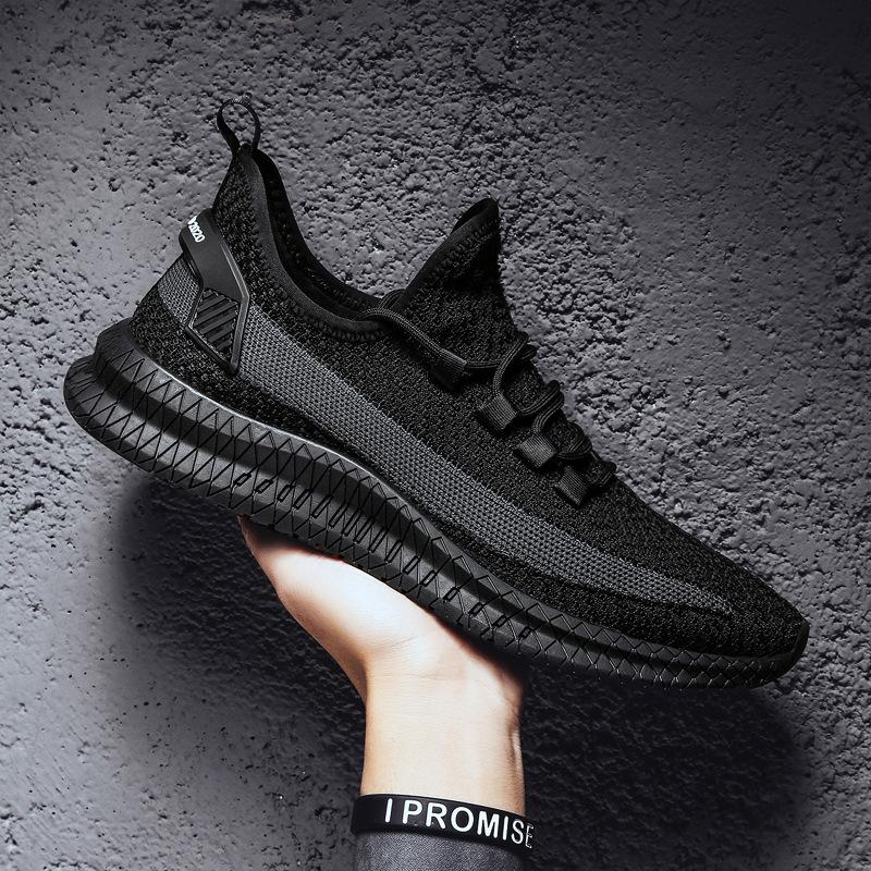 Giày lười / giày mọi đế cao Nhà máy trực tiếp mùa hè mới bay giày dệt kim nam một thế hệ giày thể th