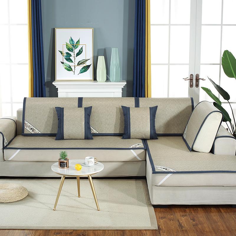 YISUYA Đệm massage Mùa hè sofa đệm mat mùa hè mát mẻ mat phòng khách bốn mùa vải chống trượt sofa bọ