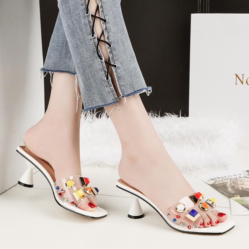 NO.55 Shoes Giày FuJian 9696-1 Phiên bản Hàn Quốc của thời trang hở ngón mang dép dày gợi cảm với mộ
