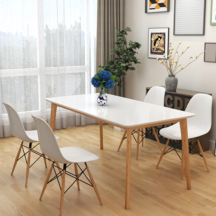 Nội thất Bàn ăn và ghế bằng gỗ rắn Bắc Âu hiện đại căn hộ nhỏ