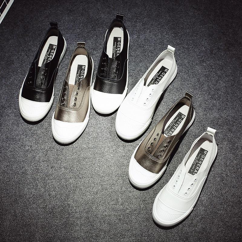 MJIANG Giày Loafer / giày lười Nổi tiếng 2017 Mùa thu bùng nổ Microfiber Giày đế bệt Hàn Quốc Giày t