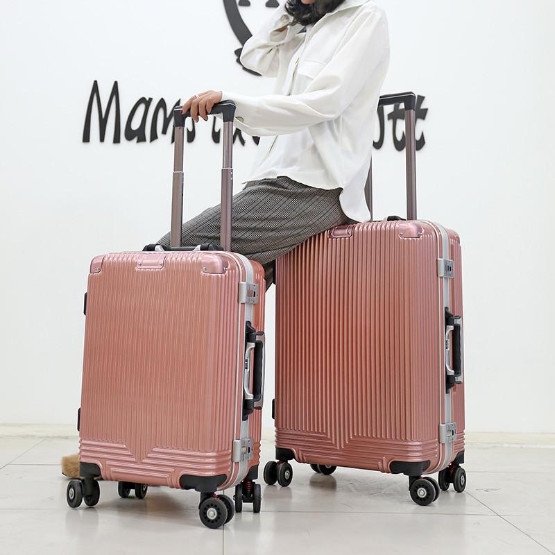 thị trường túi - Vali Bán buôn 20 inch 24 inch trường hợp xe đẩy pc khung nhôm phổ quát gói hành lý